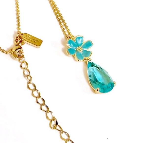 89196f65b5e66a kate spade Jewelry | Blue Stone Flower Pendant Necklace | Poshmark